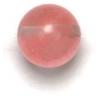 Semi-Precious 8mm Round 16in Strung Reconstructed Cherry Quartz